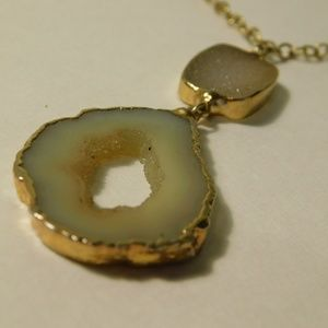 Vintage Druzy Quartz Necklace